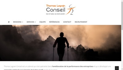 Site internet de Thomas Legrain Conseil