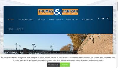 Site internet de Societe Nouvelle Thomas et Danizan Midi Pyrenees