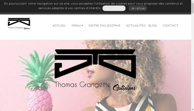 Site internet de Thomas Grangette Opticiens