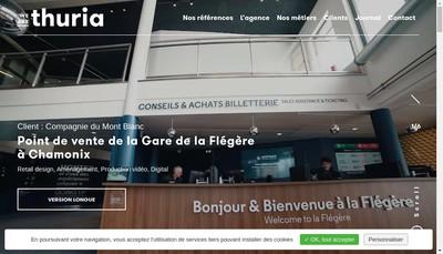 Site internet de Agence Thuria