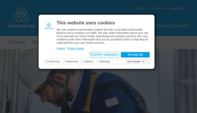 Site internet de Thyssenkrupp Ascenseurs Holding