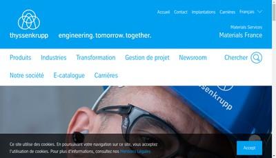 Site internet de Thyssenkrupp Materials France