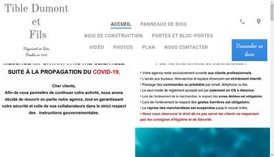 Site internet de Tible Dumont et Fils