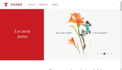 Site internet de Ticero