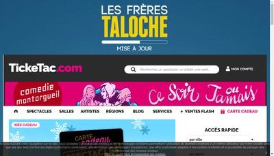 Site internet de Ticketac Com
