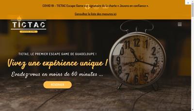 Site internet de Tictac Escape Game