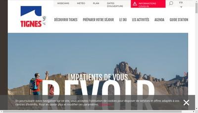 Site internet de Tignes Developpement -Sagest