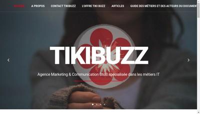 Site internet de Tiki Buzz