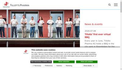 Site internet de Tillotts Pharma France SAS
