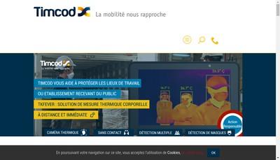 Site internet de Timcod Sud Est