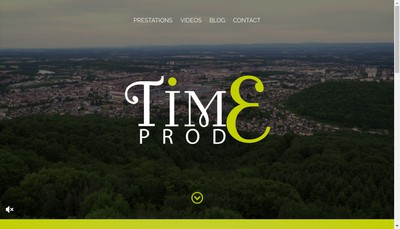 Site internet de Time Prod