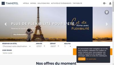 Site internet de Timhotel Invalides