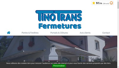 Site internet de Tino'Trans Transports et Tino'Trans Fermetures