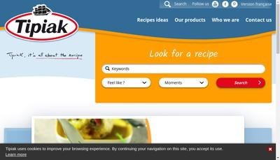 Site internet de SA Tipiak