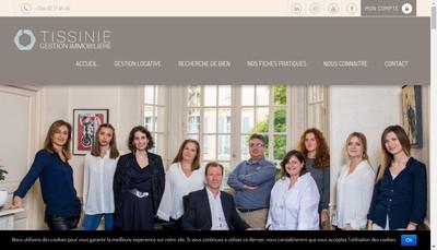 Site internet de Gestion Immobiliere Tissinie
