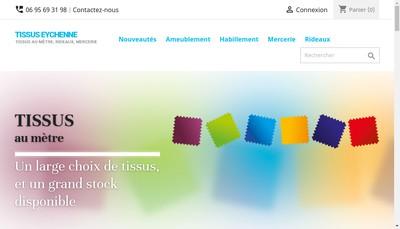 Site internet de Tissus Eychenne
