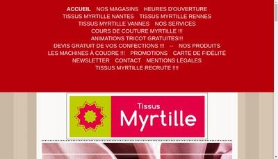 Site internet de SARL Myrtille