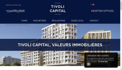 Site internet de Tivoli Capital Im