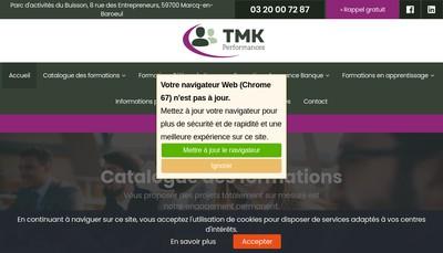 Site internet de TMK Performances