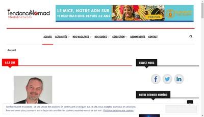 Site internet de Tendance Nomad Publishing