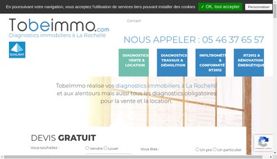 Site internet de To Be Immo