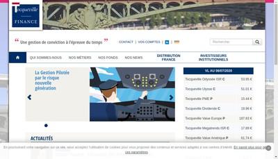 Site internet de Tocqueville Finance SA