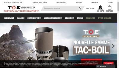 Site internet de TOE Concept