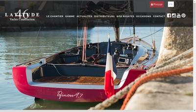 Site internet de Chantier Naval Latitude 46