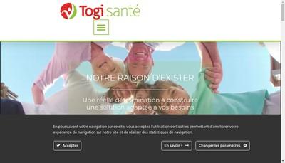 Site internet de Togi Sante Groupe