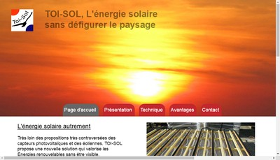 Site internet de Toi-Sol