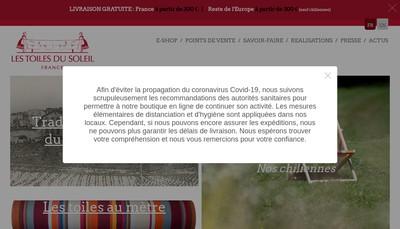 Site internet de Les Toiles du Soleil