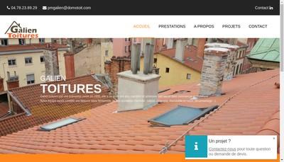 Site internet de Domotoit, Coloretanch', Amiante Toitures Lyon