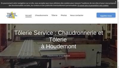 Site internet de Tolerie Service SA