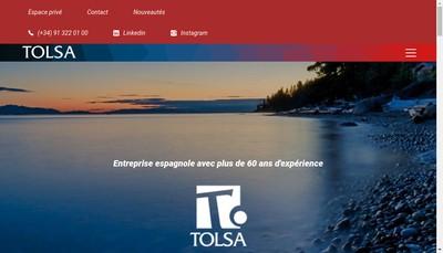 Site internet de Tolsa France
