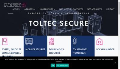 Site internet de Toltec Secure
