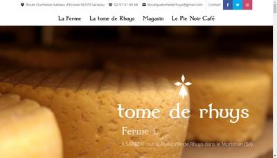 Site internet de La Ferme Fromagere de Suscinio