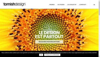 Site internet de Tomish Design