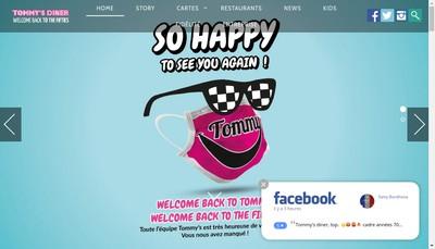 Site internet de Tommy'S Diner Cafe