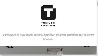Site internet de Patrice Toniutti Arhictecte Dplg