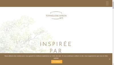 Site internet de Tonnellerie Baron