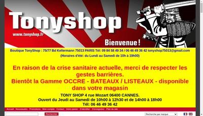 Site internet de Tonyshop