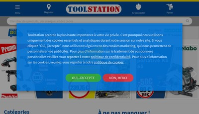 Site internet de Toolstation