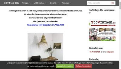 Site internet de Toovintage.com
