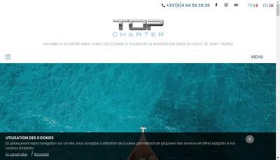 Site internet de Top Charter