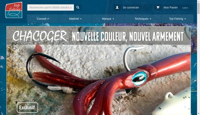 Site internet de Top Fishing
