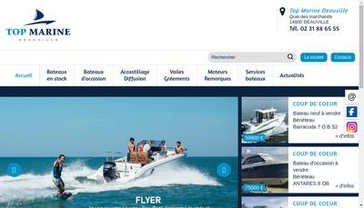 Site internet de Top Marine