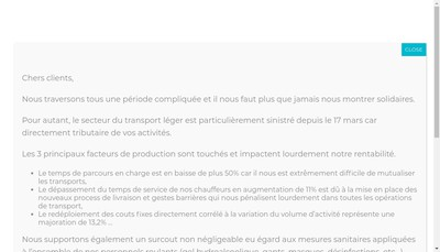 Site internet de Top Chrono Agence Fast Heure- Faster Courses Ruthillus Vit Courses PMS Goldrace Topchrono Fr Col