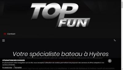 Site internet de Top Fun