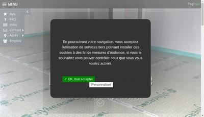 Site internet de Cabaniols Top'Isol