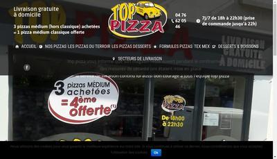 Site internet de Top Pizza